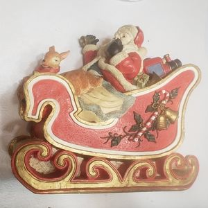 None Holiday - Santa Claus in his sleigh so cute decoration
